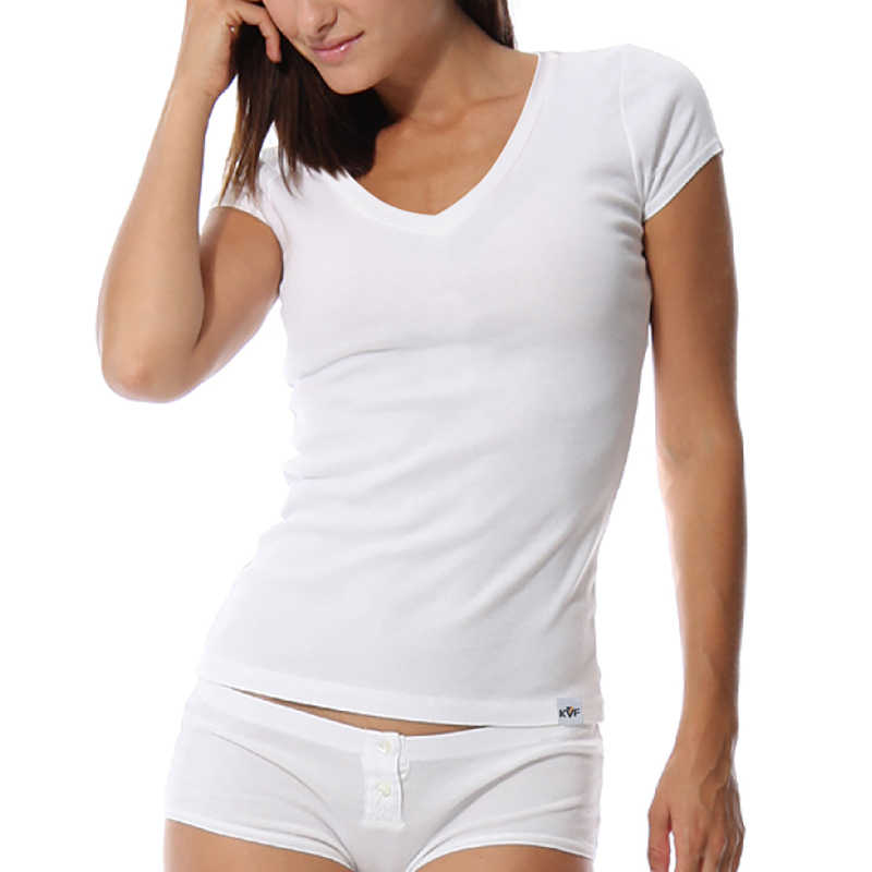 KalvonFu Летняя мода Стиль Для женщин Повседневная футболка женская с коротким