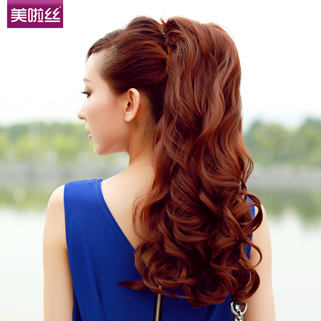 58cm Long Curly Ponytail Straps Fake Ponytail Of Hair Ponytail