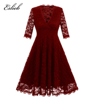 Eslieb Cocktail Dresses Simple A Line Lace Cute Summer Women 2018 Short Vestidos Size Sexy Women