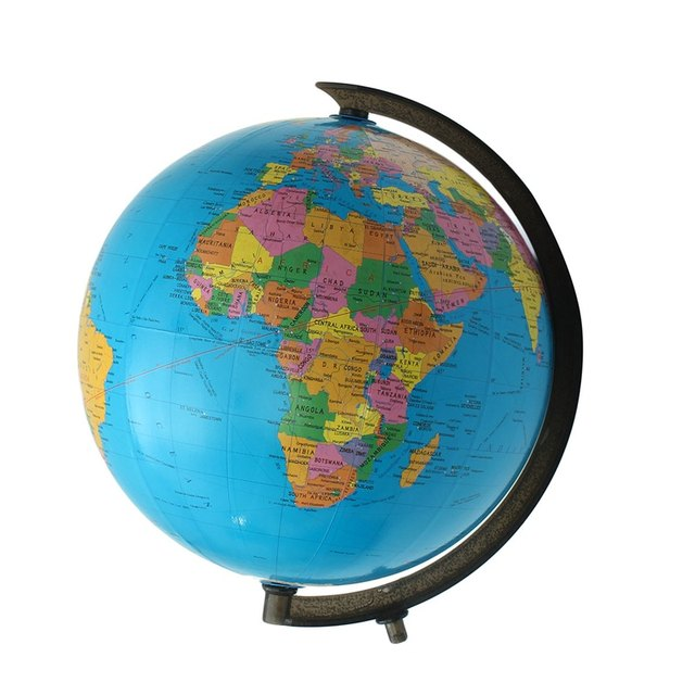 Online Shop Modern Cm World Globe Map Ornaments With Swivel - World globe map