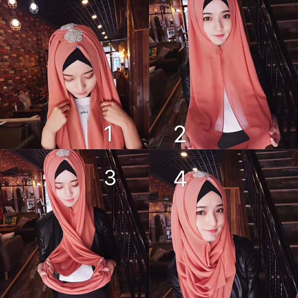 Fashion Muslim Islamic Chiffon Women Girls Hijabs