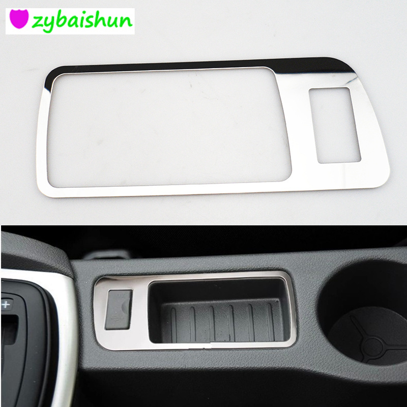 Car USB Panel Decorative Cover Trim Fit For <font><b>Ford</b></font> <font><b>Focus</b></font> 2 <font><b>MK2</b></font> <font><b>2005</b></font> 2006 2007 2008 2009 2010 <font><b>2011</b></font> 2012 2013 2014 Car Styling image