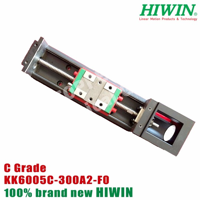 US $594 81 |HIWIN module KK60 Industrial Robot KK6005C 300A2 F0 stepper  motor linear slide table screw KK module KK6005-in Linear Guides from Home