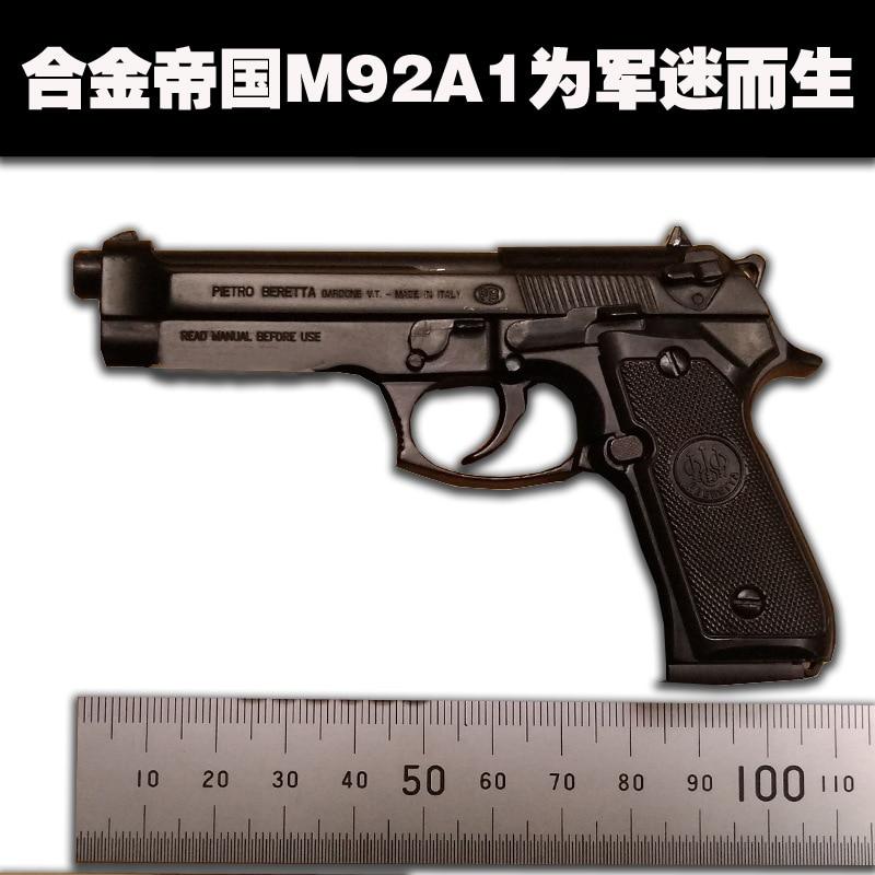Latest full metal beretta m92a1 1:2.05 pure black pistol model toy model...