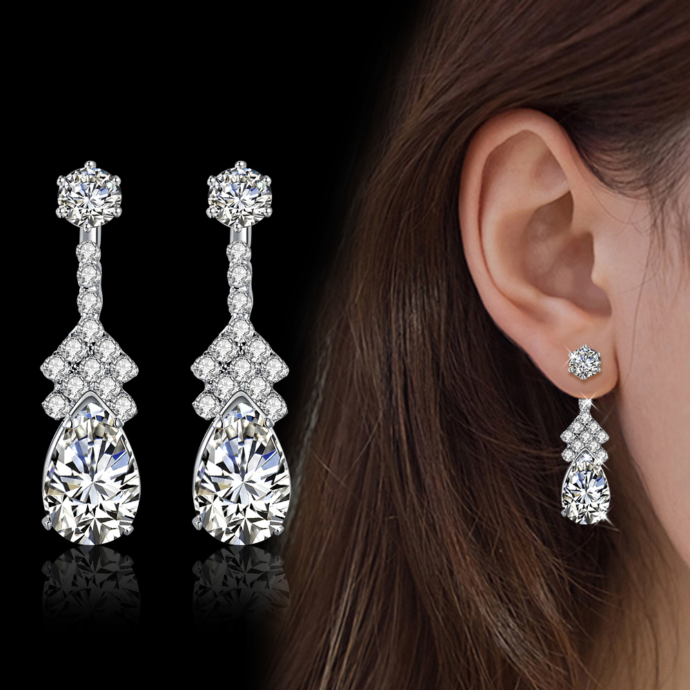unique product costly dinner coral auger the with personality accessories female store red gem party fashion diy earrings bride and set