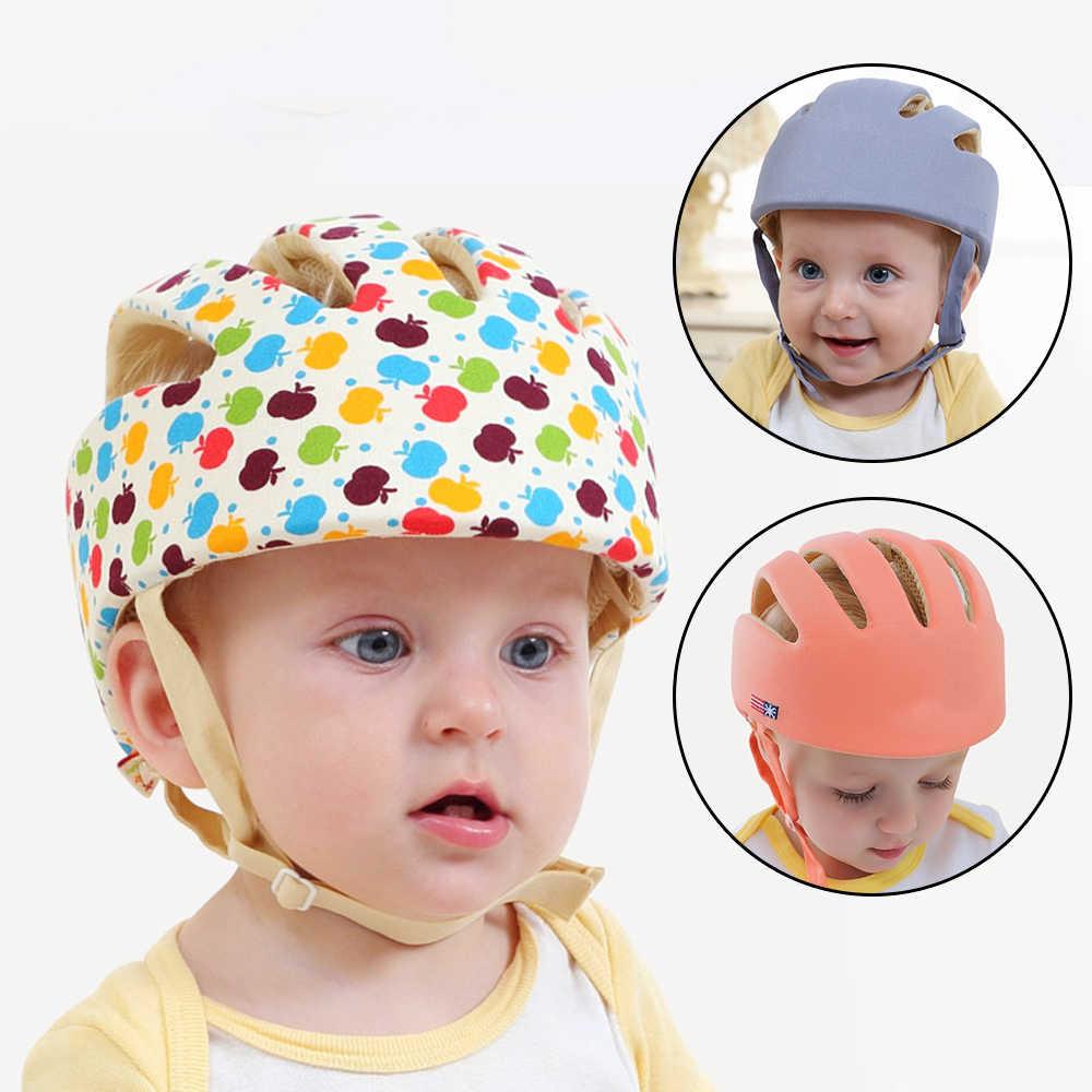 Шлемы для новорожденных, защищающие голову, для детей, предотвращают детские игры, кепки из хлопка для мальчиков и девочек, шапочки для защиты головы