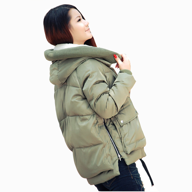 Europe military 2016 new women winter fashion short loose parkas causal hooded duck down parkas plus size down jacket coat M0035