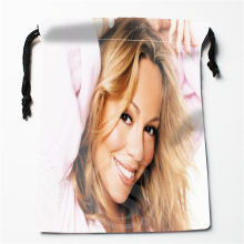 New Mariah Carey printed storage bag 27x35cm Satin drawstring bags Compression Type Bags Customize your image gifts