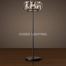 Vintage K9 Crystal Floor Lamp Standing Lighting Floor Light Indoor Lighting Home Hotel Restaurant Living and Dining Room Decor