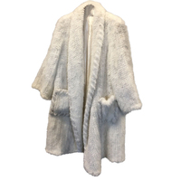 Winter Genuine Natural Knitted Mink Fur Coat Jacket Women Fur Trench Overcoat fur pajamas coats free size large style