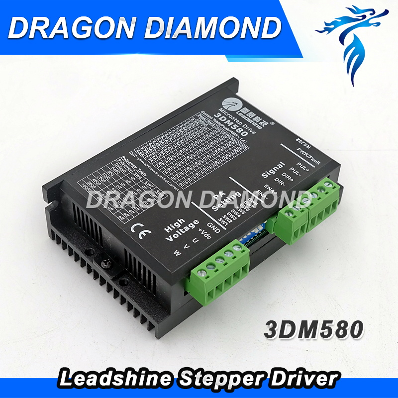 3-phase driver 7.2A Leadshine Stepper Motor driver 3DM580 3 phrase leadshine 573s15 step motor