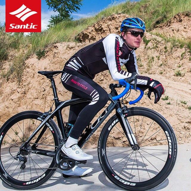 Online Shop Santic Cycling Jersey Sets Men 2018 Autumn Winter MTB ... fe580a84c