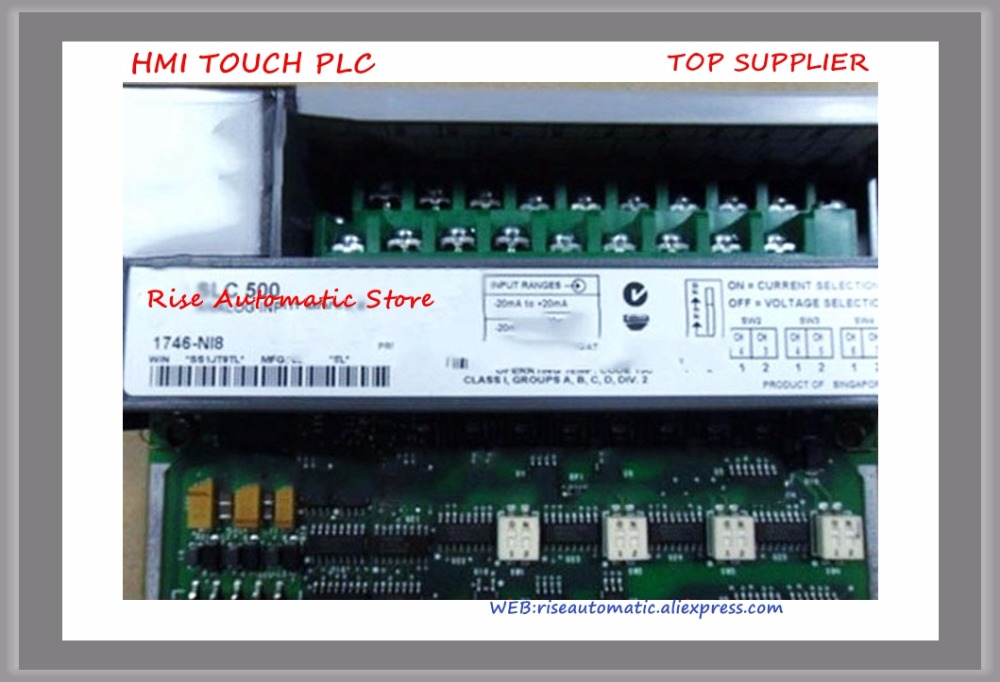 1746-NI8 PLC 200mA 8 Number of Inputs Analog I/O Modules New Original plc 60ma 4 number of inputs thermocouple analog input module for 1746 nt4