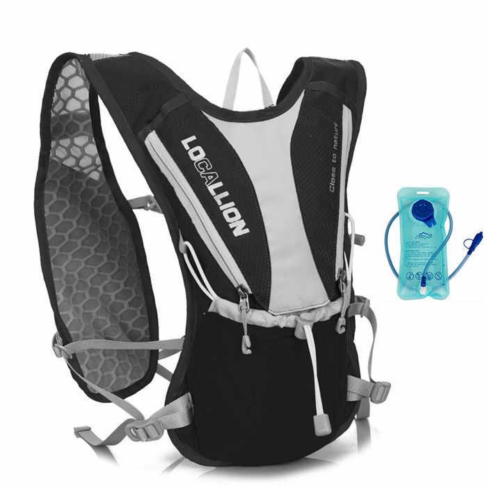 Сверхлегкий спортивный мешок воды 1L + 5L Чехол наружного оборудования набора marsupio Бег маленький велосипед рюкзак MTB Велоспорт Бег сумка