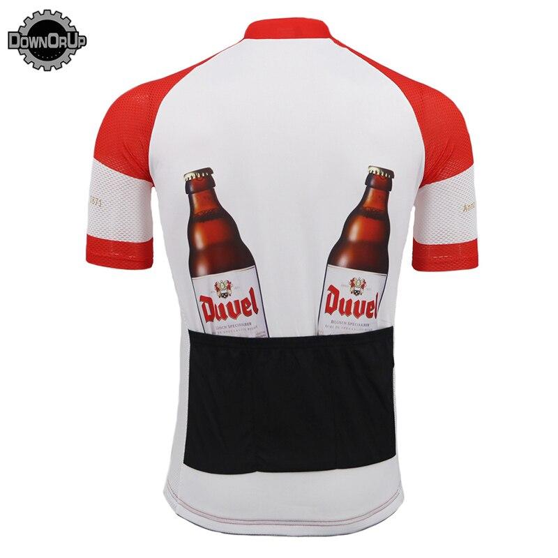 6a4cb435a61c Bélgica DUVEL cerveza clásica ciclismo jersey rojo/blanco hombres pro  equipo ciclismo ropa alta calidad bicicleta Jersey MTB 3 bolsillos de vuelta