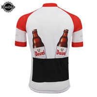 Belgien bier klassische radfahren jersey ROT/WEIß männer pro team radfahren kleidung Top Qualität fahrrad Jersey MTB 3 taschen zurück