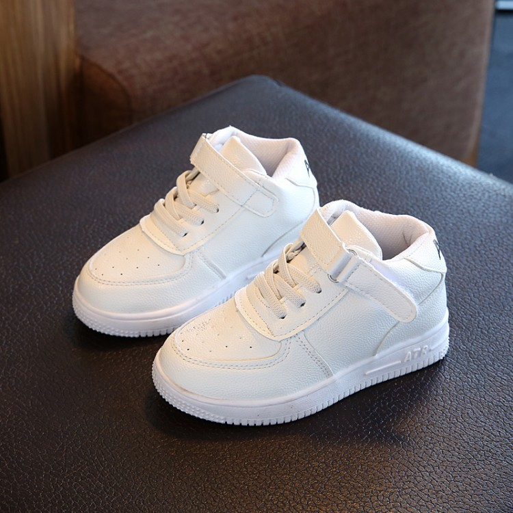 2018 girls boys shoes leather spring new Fashioelastic Korean version of the British style casual dress Flat school shoes