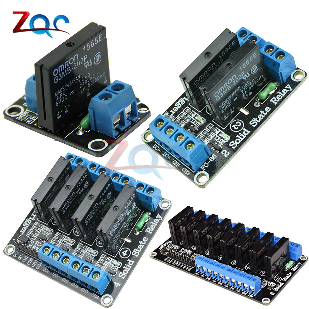 DC 5V 1 2 4 8 Channel Relay Module Solid State Relay High Level Trigger Effective SSR AVR DSP Board For Arduino