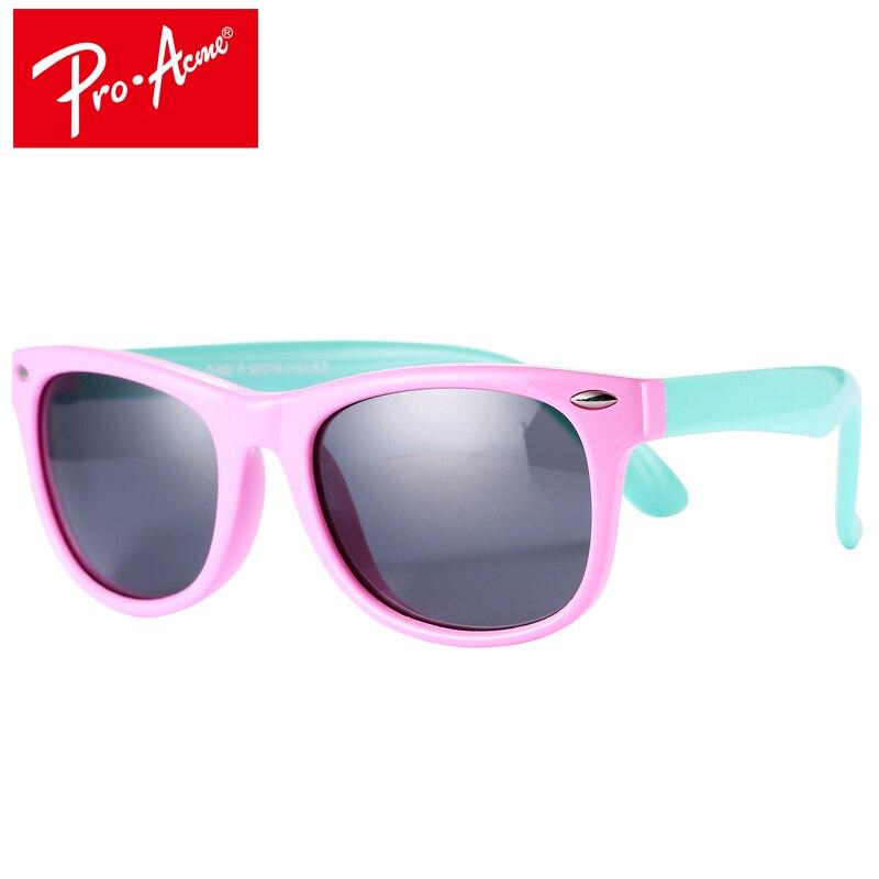 Pro Acme TR90 Flexível Crianças Óculos Polarizados Revestimento Praça  Shades Óculos de Sol Infantis da Segurança 8a12b89921