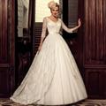 Chic Lace V-Neck Sexy Bridal Gowns vestido de noiva curto Appliques Butons Sash A-Line Sleeves Princess Wedding Dresses Turkey