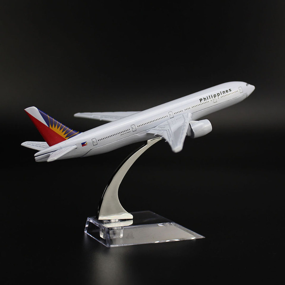 TAIHONGYU 16cm 1/400 BOEING 777 Philippines Airline Airplane Model W/Stand Collections Metal Diecast Toys Gift For Children