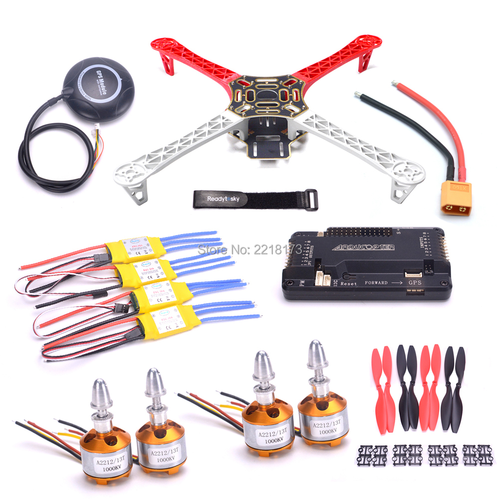 F450 Quadcopter kit Telaio APM2.8 controller consiglio 6 M/7 M/M8N GPS 2212 1000KV 30A ESC 1045 elica per S500