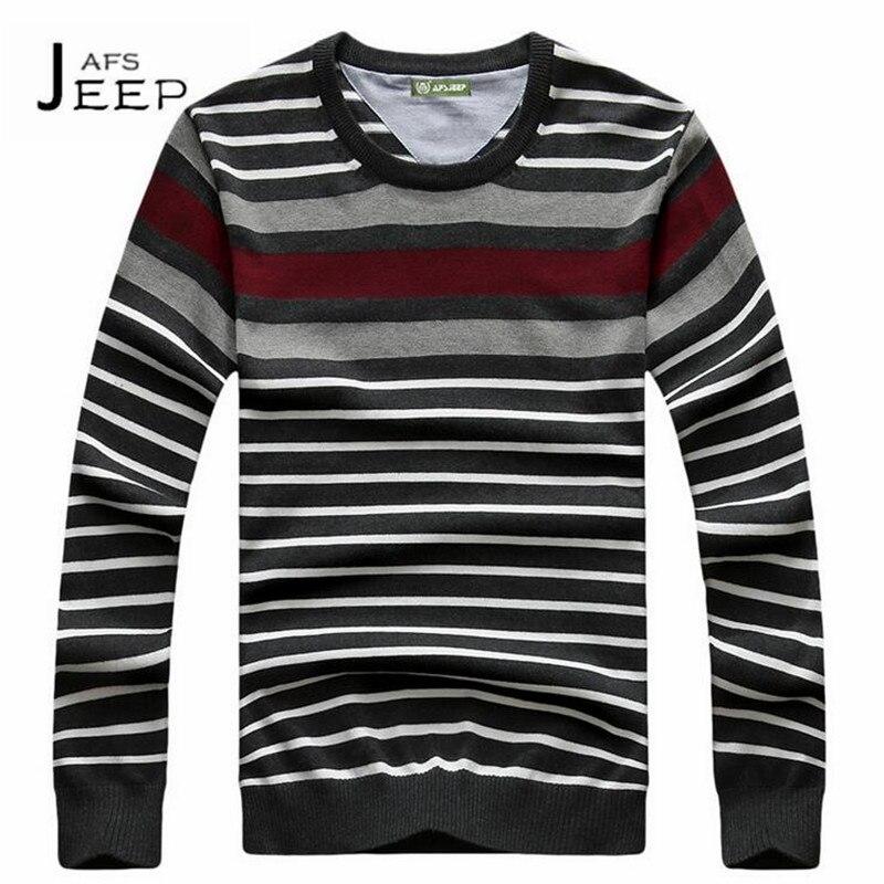 JI PU o neck Mans Long Sleeve Fashion Design Sweater,Thin Striped Cotton Elasticity Yong Mans Deportes knitted listrado wear