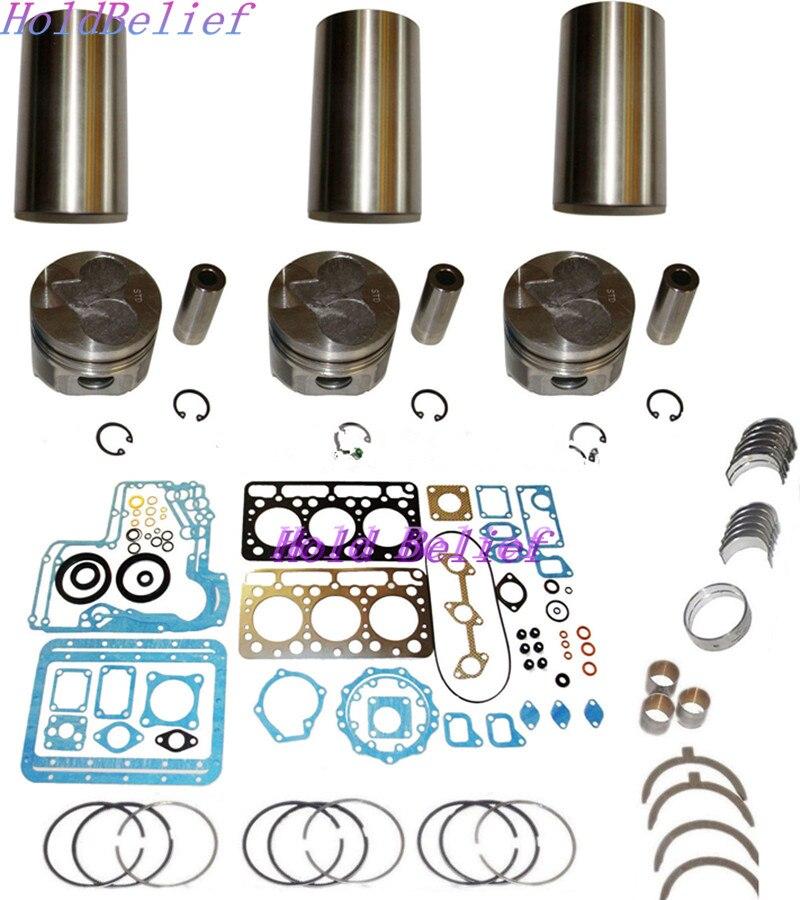 New Rebuild Kit Overhaul D750 STD Com Forro Para Kubota Motor