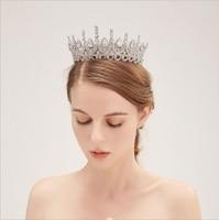 Cubic Zirconia CZ Wedding Crown Tiara Diadem Women Hair Accessories Wedding Crown for Brides Crystal Bridal Tiara