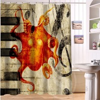 H P 48 Fashion Design Octopus 2 Custom Shower Curtain Bathroom Decor Various Sizes Free Shipping