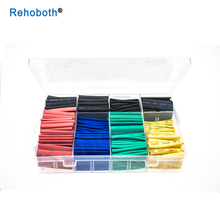 530Pcs Assorted Polyolefin Heat Shrink Tube Cable Sleeves Wrap Wire Set 8 Size Multicolor/Black
