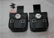 Free shipping motorcycle side bag large Wang Wang saddle bag skull Kito side box side edging tool kit bags