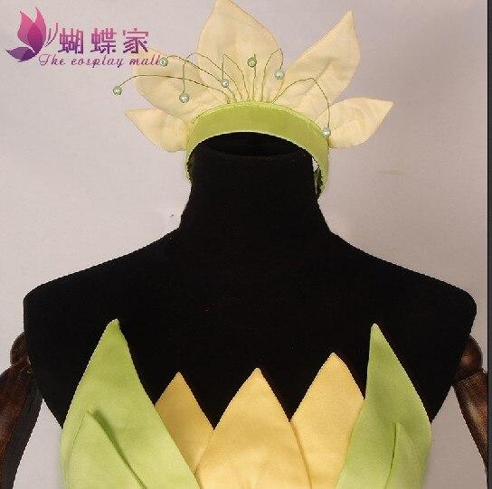 Aangepast De prinses en de kikker Cosplay Prinses Tiana Jurk - Carnavalskostuums - Foto 3
