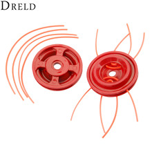 DRELD Universal 4 Line Bump Feed Strimmer Trimmer Brush Cutter Head for Brushcutter Grass Accessory Garden Tools