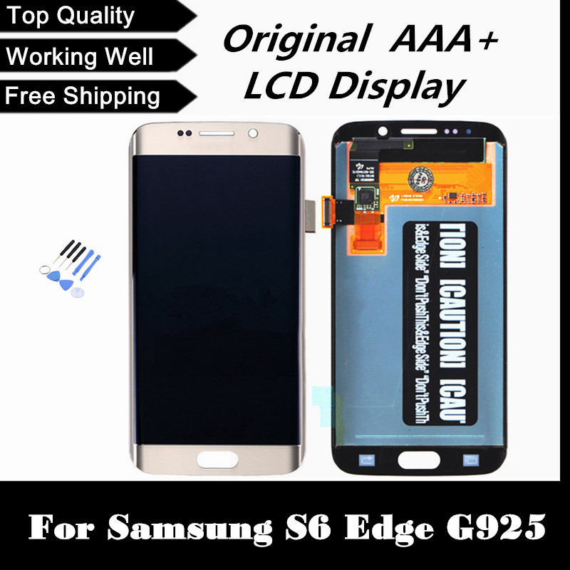 Top Quality LCD for Samsung Galaxy S6 Edge G925 G925i G925f G925V Replacement LCD Display Screen