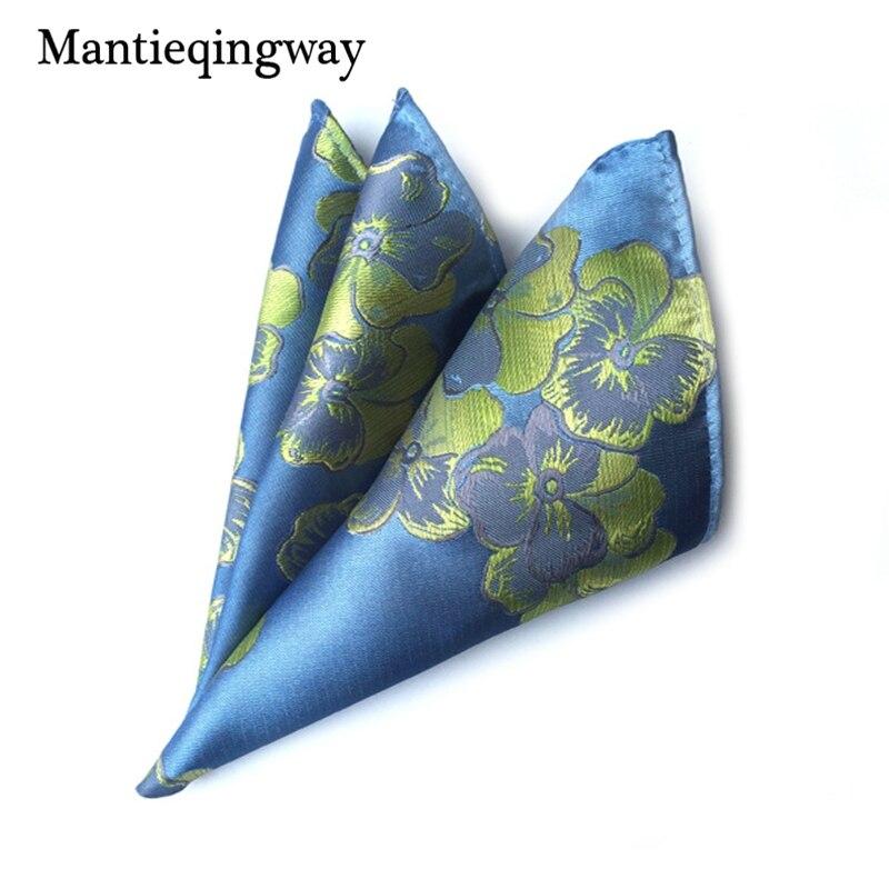 Mantieqingway Brand Handkerchief Pocket Squares For Men Fashion Paisley Casual Orange Square Pocket Floral Dot Handkerchiefs
