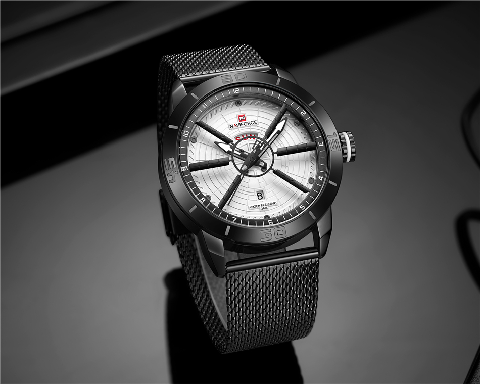 NAVIFORCE Mens Watches Top Brand Luxury Quartz Watch Men Full Steel Men Watch Sport Fashion Business Watches Relogio Masculino 27