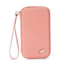 Oxford Passport Wallet Folder Large Capacity Card Holder Women Phone Pocket