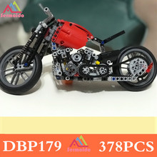 sermoido 378Pcs Technic Motorcycle Exploiture Model Vehicle Building Bricks Block Set Toy Gift Compatible Decool new 2793pcs lepin 20005 technic series 42023 arocs model building block bricks compatible with 05007 educational boys toy gift