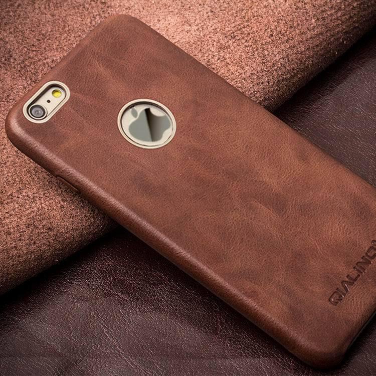 QIALINO Kulit Asli Kasus Telepon untuk iPhone 6 & 6 s Kulit Betis - Aksesori dan suku cadang ponsel - Foto 3