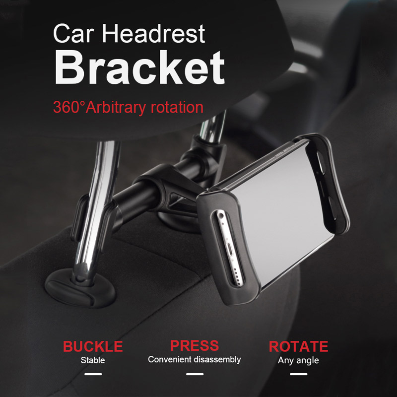 Extensible Tablet PC Stand Rear Seat Car mobile Phone Stand Mini Air 1 2 3 4 Pro Rotating Bracket holder POP socket for iphone