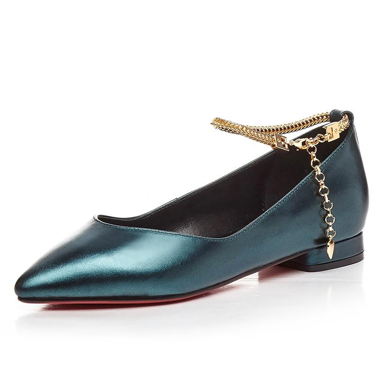 ФОТО Fashion women flats Genuine leather 2 cm heels Size 34-39 Casual ladies flat heel shoes platform Pointed-toe shoes woman D-309