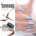 Laser Silver Holographic Nails Glitters Powder DIY Nail Art Sequins Chrome Pigment Dust Shiny Magic Laser Mirror Powder Nails