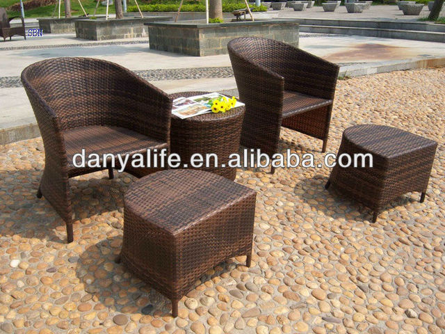 DYBS-D5204Garden Patio Bistro Set Outdoor Restaurant Table Chair Wicker Rattan & DYBS D5204Garden Patio Bistro Set Outdoor Restaurant Table Chair ...