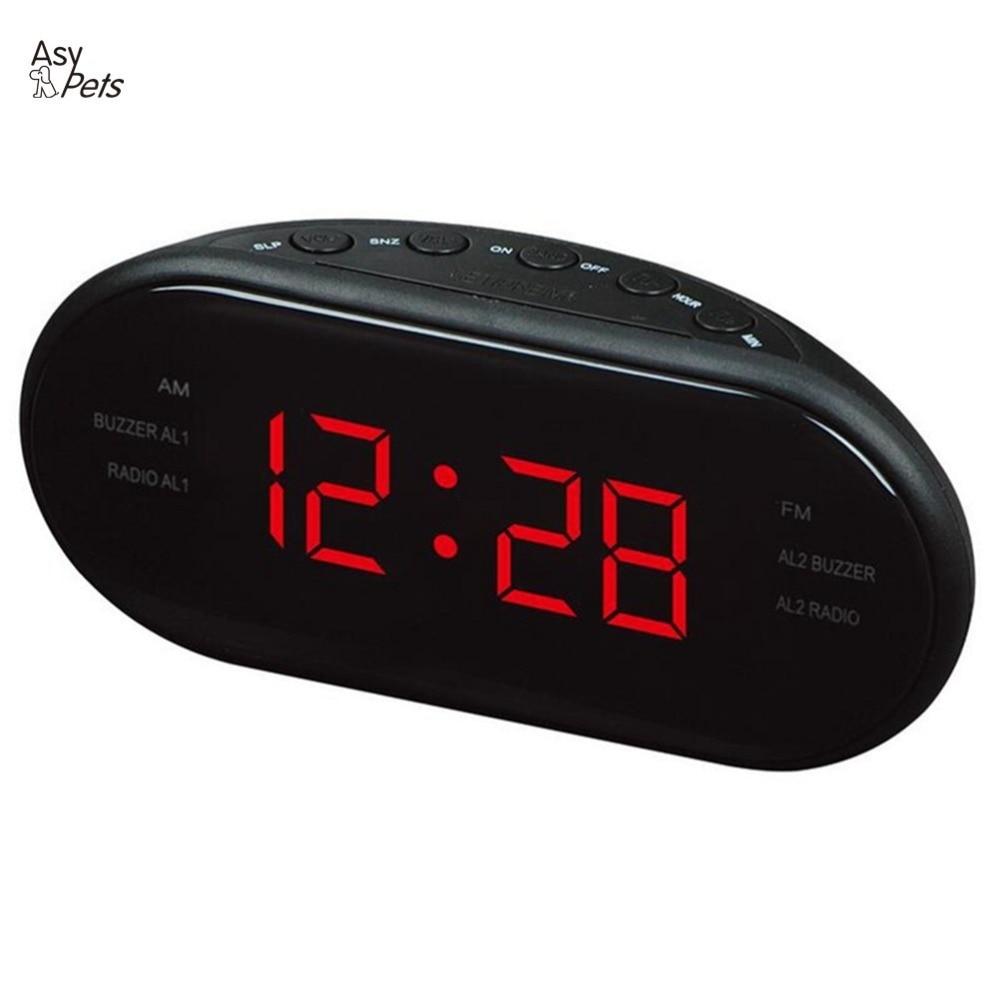 AsyPets Nouvelle Mode Moderne AM/FM LED Radio-Réveil Électronique De Bureau D'alarme Horloge Numérique Table Horloges Snooze Fonction- 25