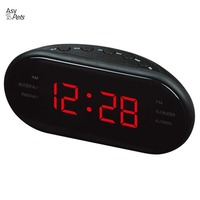 AsyPets New Fashion Modern AM FM LED Clock Radio Electronic Desktop Alarm Clock Digital Table Clocks