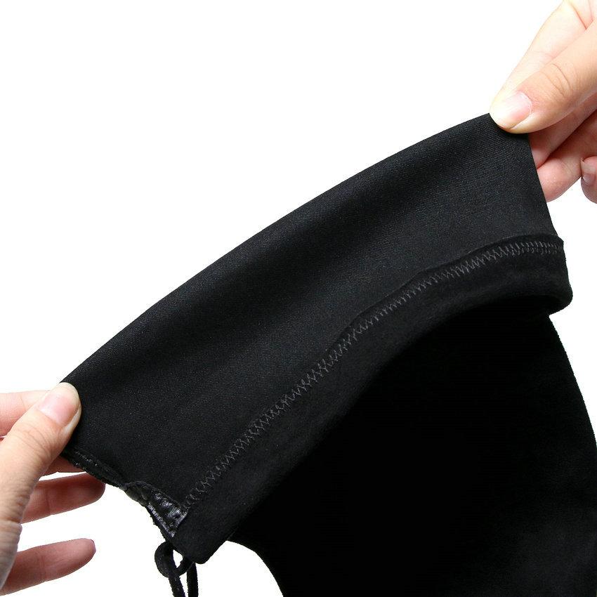 Sur Genou Chaussures Femme Bout Talons Solide Cow Carré Longues Haute Taille Bottes Zipper Pointu Femmes black Suede 39 Le 34 2019 Hiver Kid Nikove Leather Black CYqz00