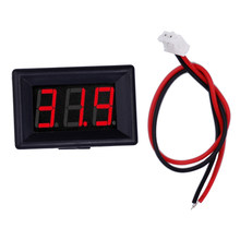 "300pcs/lot mini LED digital display voltmeter 3 bit 0.36"" Panel Volt Meter Car battery Voltage Meter DC 2.4V-30V 47% off(China)"