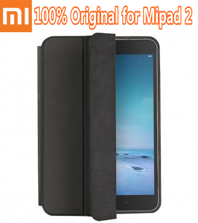 100 Original Official Stand Flip font b Smart b font Leather Cover for Xiaomi MiPad 2