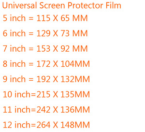 Image 2 - 3pcs Universal 5/6/7/8/9/10/11/12inch Screen Protectors Clear or Matte Protective Film for Mobile Phone/Tablet/Car GPS LCD/MP3 4